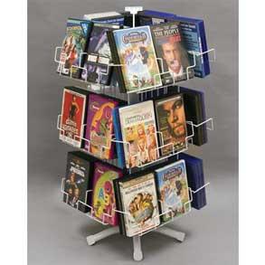 WHITE 24 POCKET DVD COUNTER SPINNER 20-795