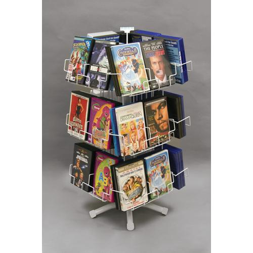 WHITE 24 POCKET DVD COUNTER SPINNER Item No.: 20-795