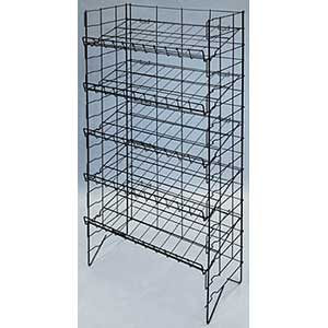 Five Tier Adjustable Chip Rack White 21-080