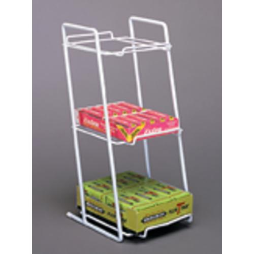 BOXED GOODS COUNTER RACK WHITE 21-403