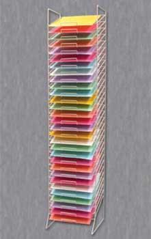 """BLACK WIRE 30-SLOT PAPER SHELVES 12""""X12"""" 21-691"""